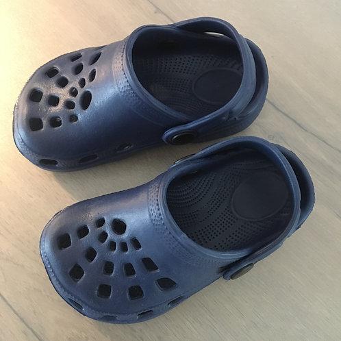 Crocs bleues marine