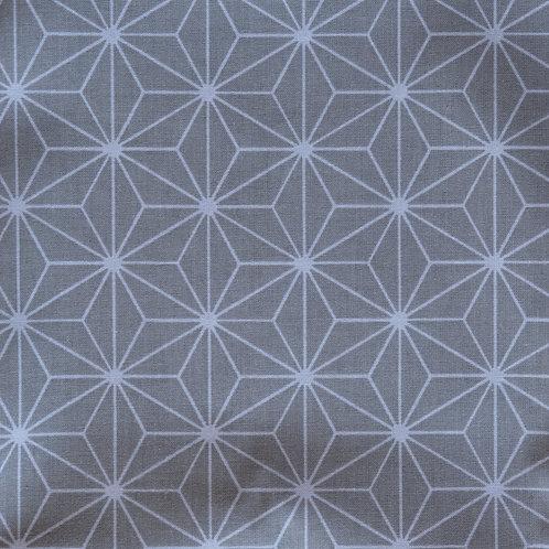 """Pochette rectangle """"Gris géométrique"""""""