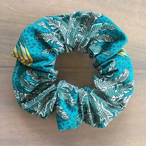 """Chouchou """"Plumes turquoise"""""""