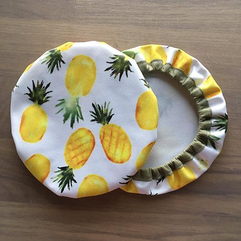 "Trio de couvre-plats ""Ananas"""