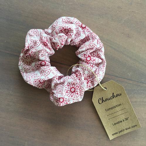 "Chouchou ""Dessins roses"""