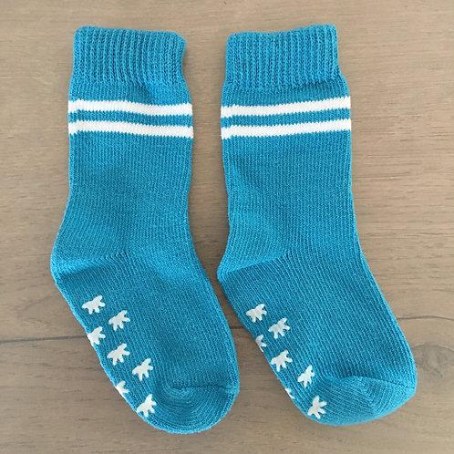 Chaussettes bleues anti-déparantes