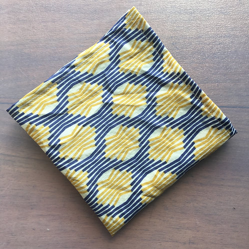 """Mouchoir """"Yellow and blue"""""""