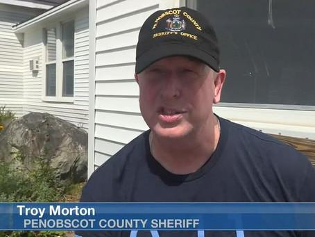 Penobscot County Sheriff Troy Morton takes part in the Tough Ruck 9/11 Half Marathon.
