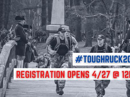 Tough Ruck 2021 Registration opens Today at 12PM EST