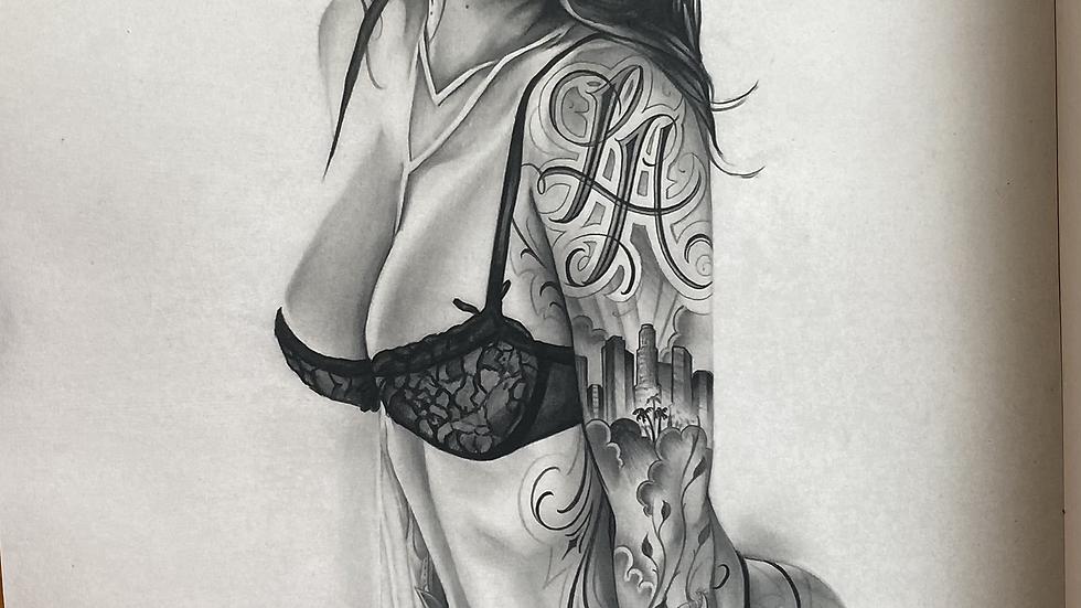 Tattooed Tianna Print