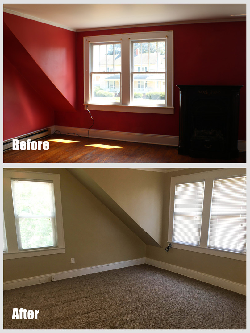 Washington Apt C Before After Living Roo
