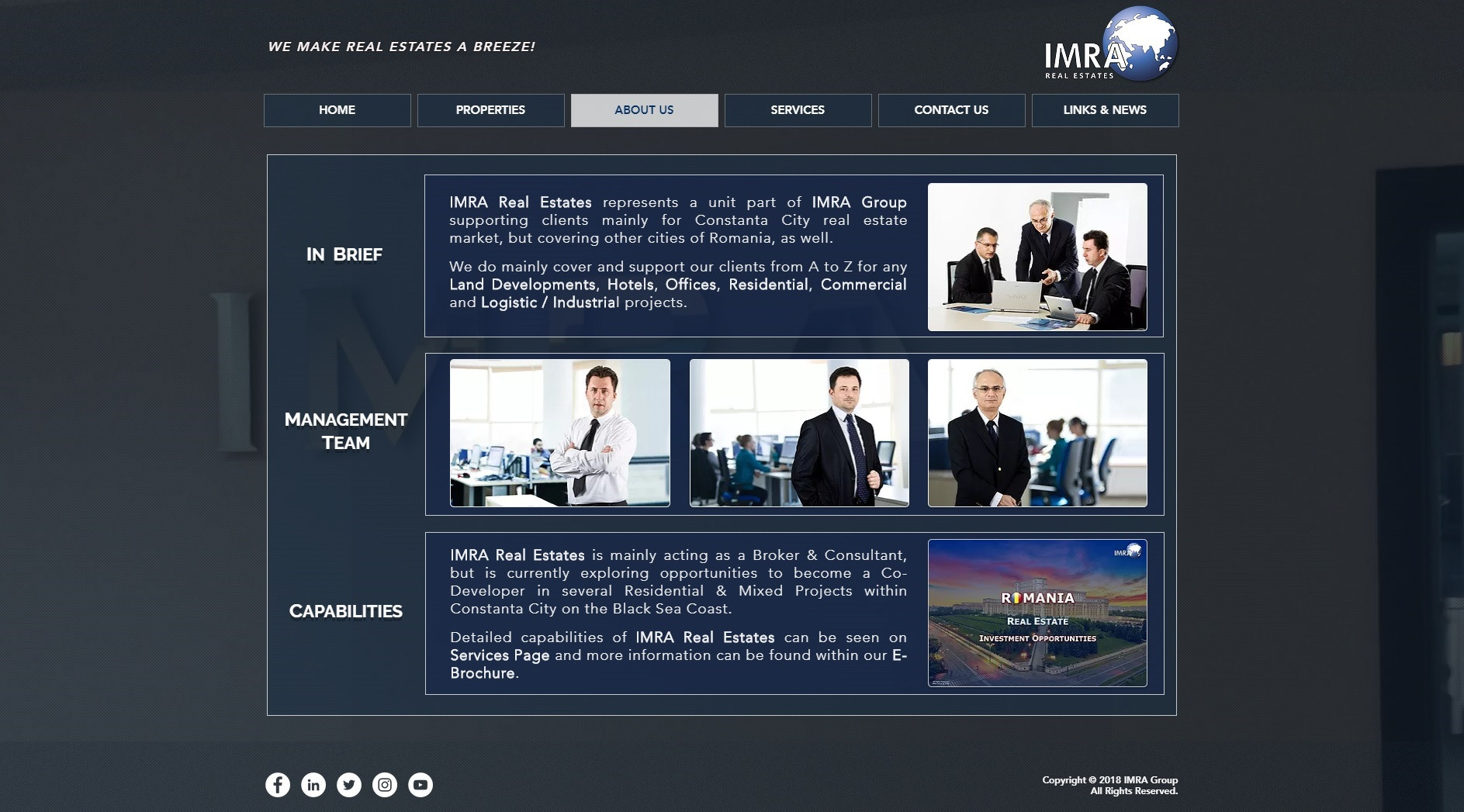 IMRA Real Estates   About Us