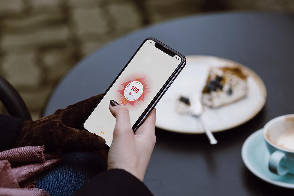 Storellet 餐飲會員獎賞 app 賺取積分畫面