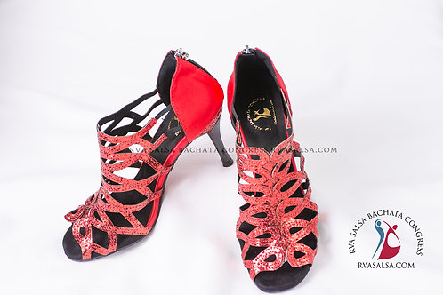 Sparkling Red Ladies Salsa/Latin Dance Shoe