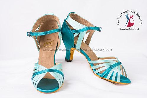 Green/Teal 2 Tone Ladies Salsa/Latin Dance Shoe