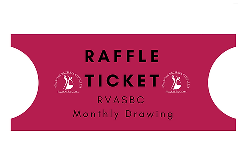 Raffle Ticket RVASBC Monthly Drawing Price