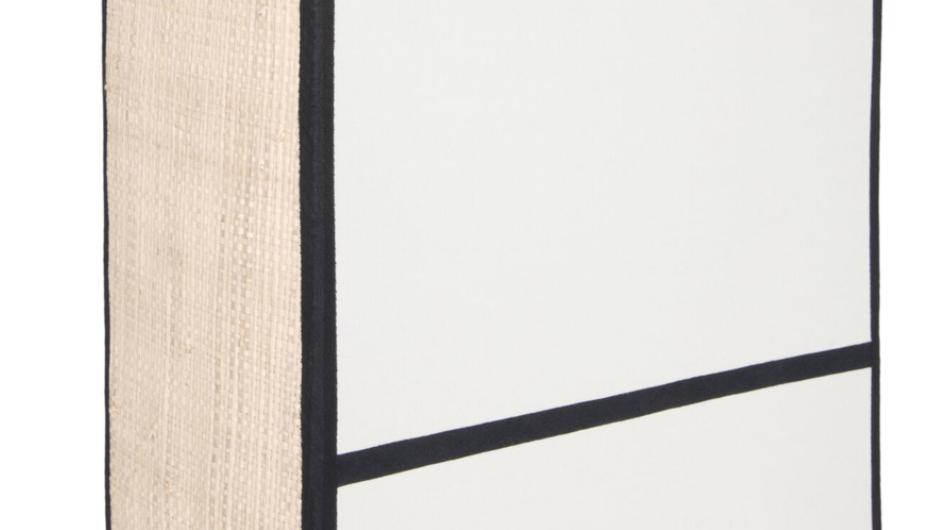 Applique Céleste Blanc/Noir H25cm