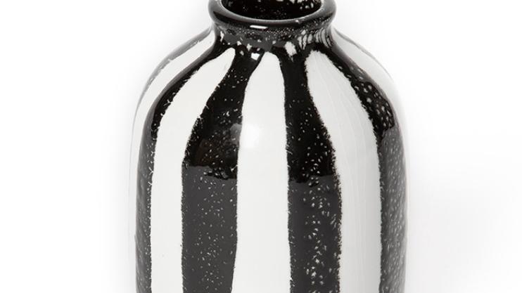Vase Décoratif Riviera H14cm Noir