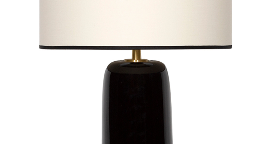 Lampe à Poser Sicilia Radis Noir H60cm