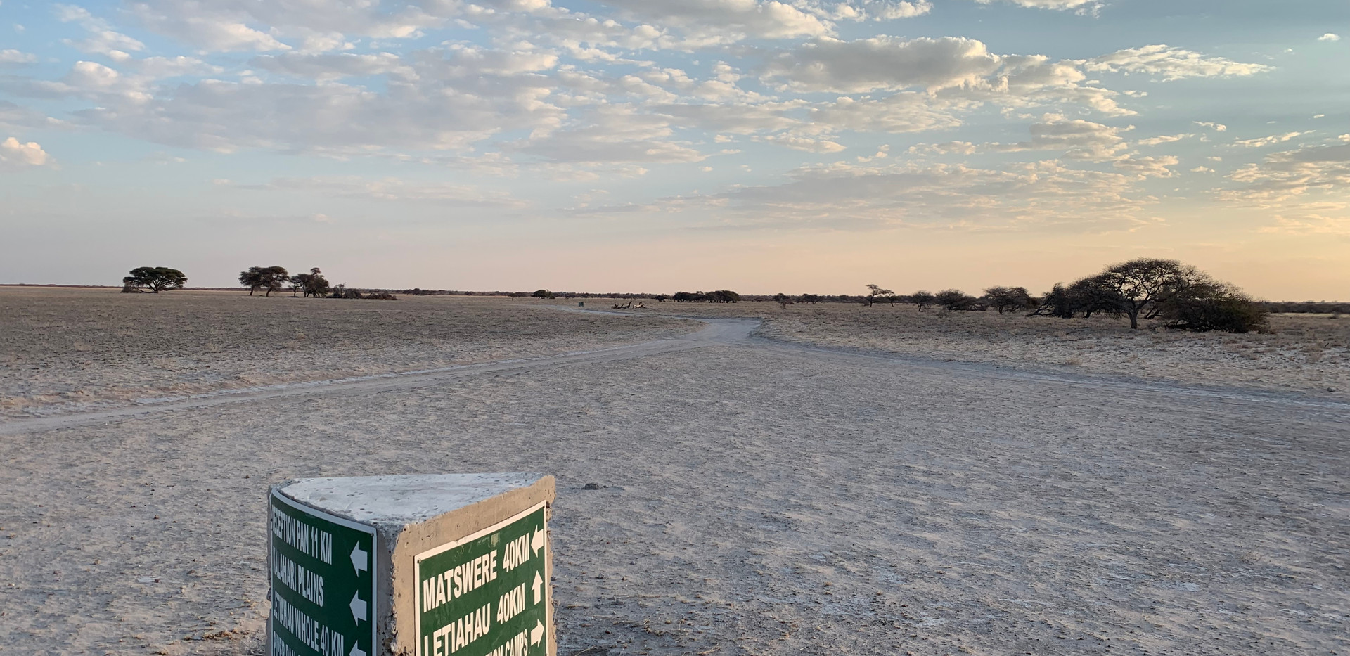 Central Kalahari Game Reserve intersection