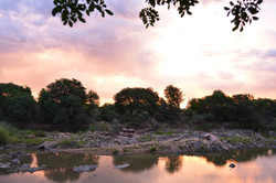 Sunset over the Limpopo River