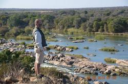 Brian at river viewpoint