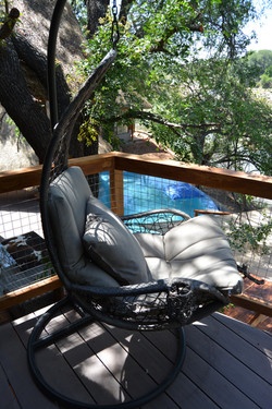 Balcony swing chair