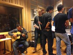 Gravação com Johan Holm