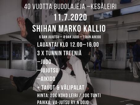 Va-Jutsu ry:n 40 vuotta budolajeja –kesäleiri 11.7.2020