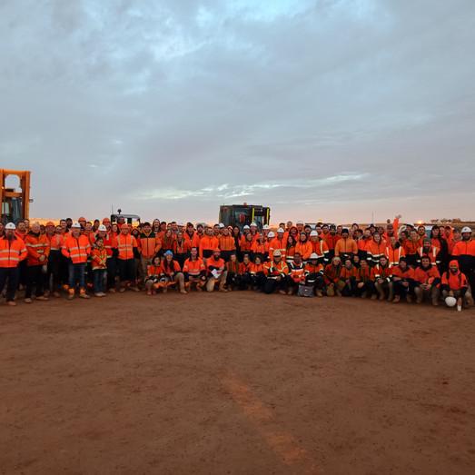 Team Tranex at Sunraysia Solar Farm