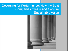 """CMM announces the release of its white paper, """"Governing for Performance: How the Best Companies Cre"""