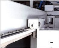 Hardened rail and heavy duty rack-pionion system.