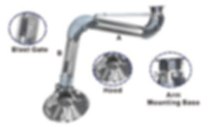 Stainless Hanging Fume Arms