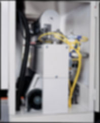 The sanding belt oscillation is actuated by pneumatic system, and controlled by air eye.