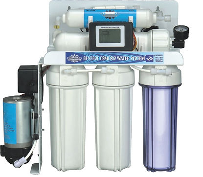 5 Stages RO Water Purifier With Pump, Micro Computer Controller and Pressure Gauge