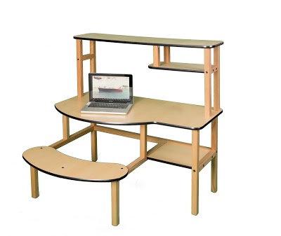 Ages 4-10 Buddy Desk w/ Hutch - Grade School Height