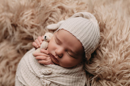 austin tx newborn boy with bear photography