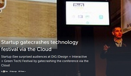 Startup gatecrashes technology festival via the Cloud #DiGFestival