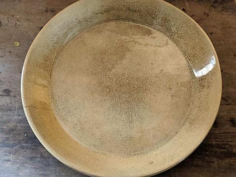 Yellow Ware Milk Plate