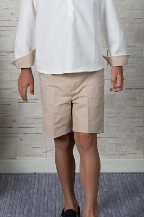 Page Boys Shorts In Sand Linen