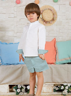 Boy-white-linen-long-sleeve-shirt-and-ba