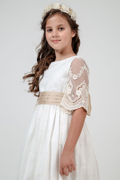 First Communion Dress With Sleeves- Elizabeth