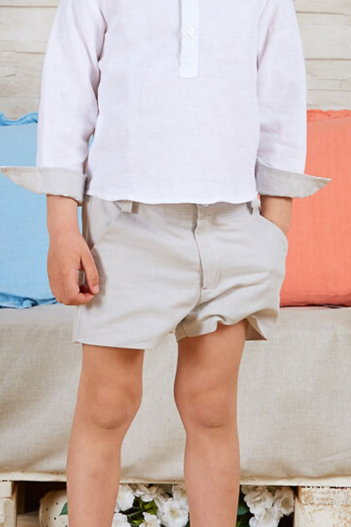 Page Boys Shorts In Ivory Linen