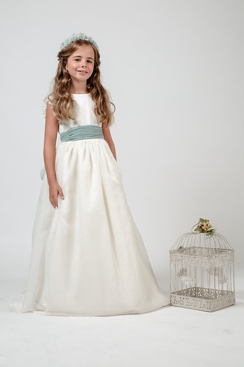 First Communion Dress Without Sleeves - Rosie