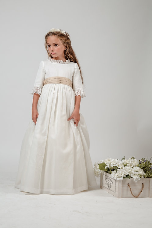First Communion Dress With Sleeves - Emily