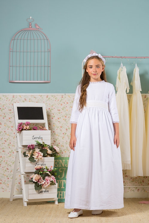 First Communion Dress With Sleeves - Jane