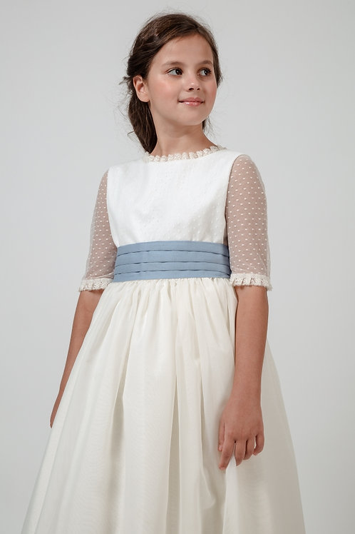 First Communion Dress With Sleeves- Mary