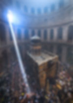 prayers at the Church of the Holy Sepulc
