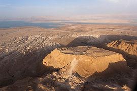 an aerial view of Massada. Photo taken b
