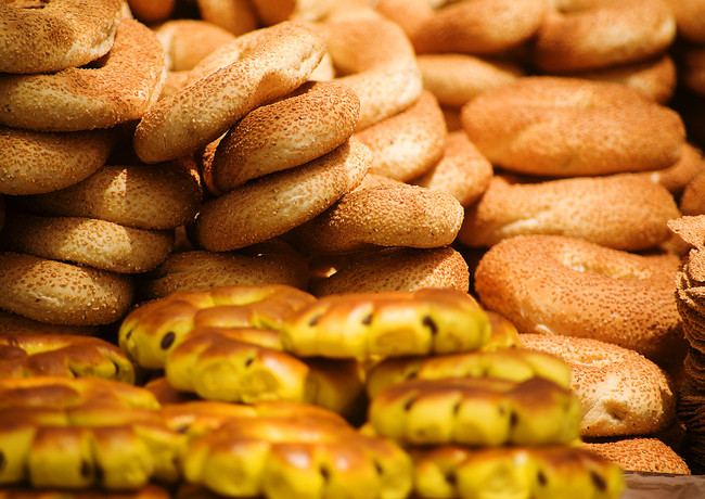 Breads - Bagels in Jerusalem, in the Old City