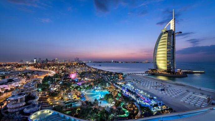 Medium-Burj Al Arab from Jumeirah Beach