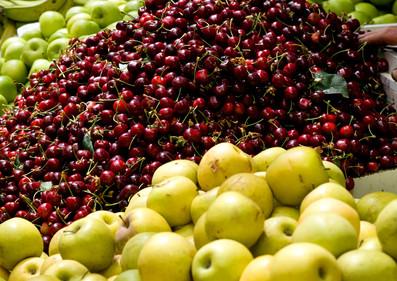 Fresh Fruits at the Mahane Yehuda Market
