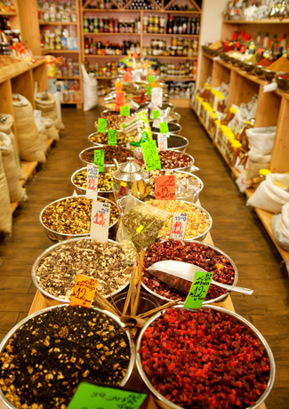 A spices store in Mahane Yehuda Market