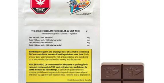 BHANG THC MILK CHOCOLATE 4 X 2.5MG THC